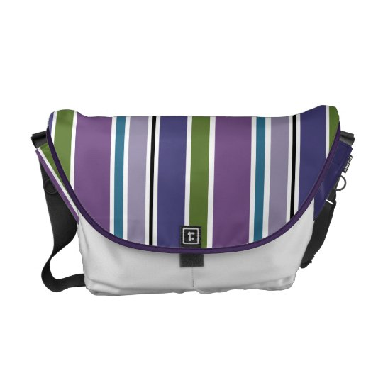 Purple Stripes Messenger Bag