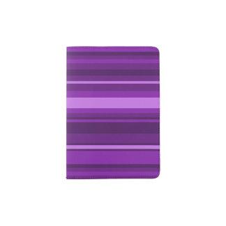 Purple stripes passport holder