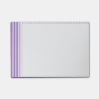 Purple Stripes Pattern Post-it Notes
