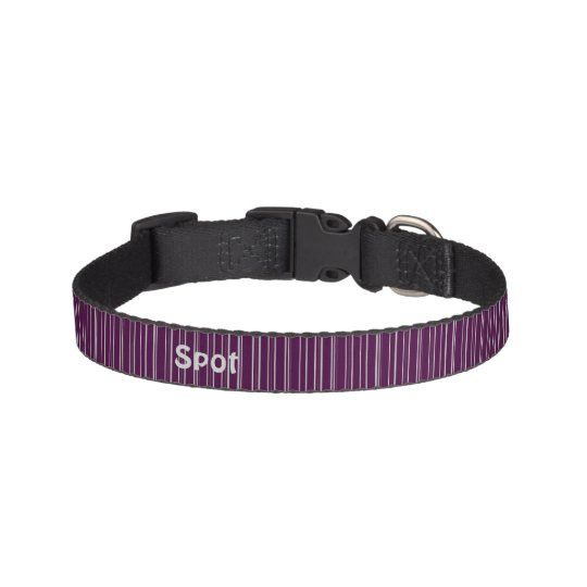 Purple Stripes Pet Collar