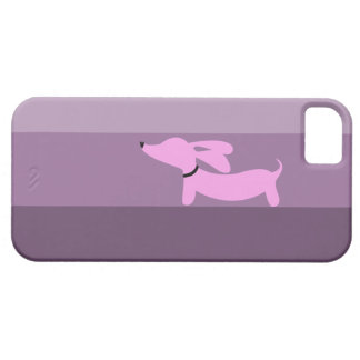 Purple Stripes + Pink Dachshund iPhone 5 Covers