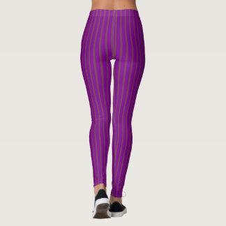 Purple Stripes Slimmer Look Leggings