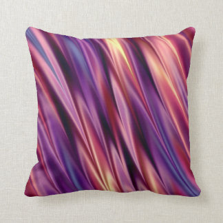 Purple stripes sunset colors throw pillow