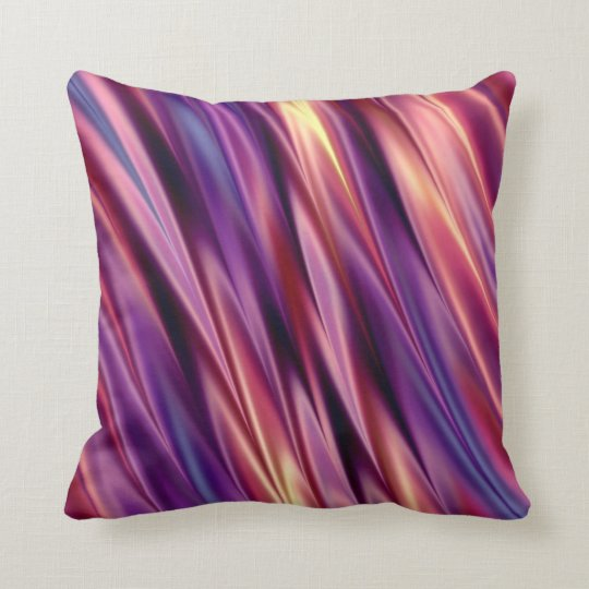 Purple stripes sunset colours throw pillow