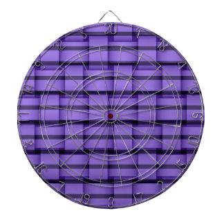 Purple stripes wicker art graphic design dartboard