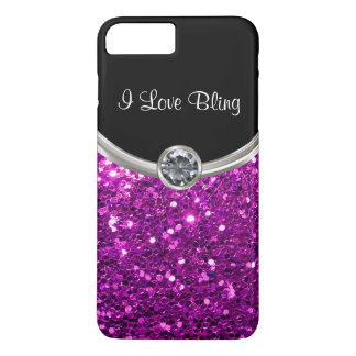 Purple Stylish Bling iPhone 8 Plus/7 Plus Case