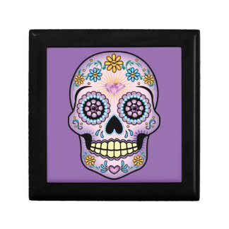 Purple Sugar Skull Gift Box