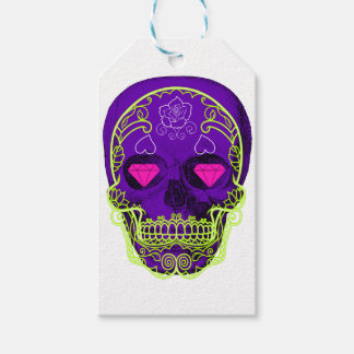 Purple Sugar Skull Gift Tags