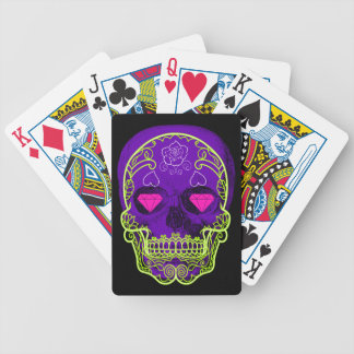 Purple Sugar Skull Playing Cards