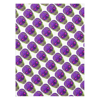Purple Sugar Skull Tablecloth