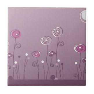 Purple Summer Ceramic Tile