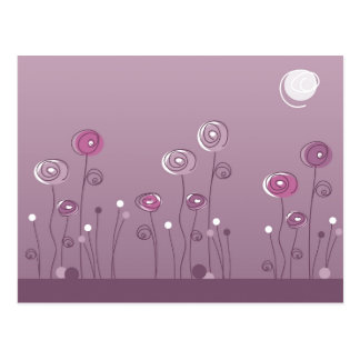 Purple Summer Postcard