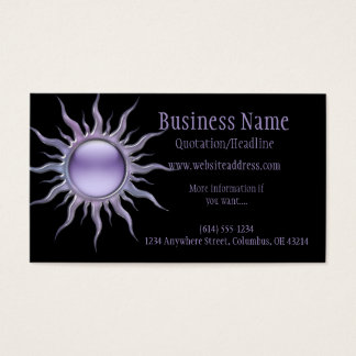 Purple Sun 2 Business Card