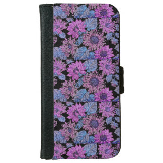 Purple Sunflower Iphone 6/6s Wallet Phone Case