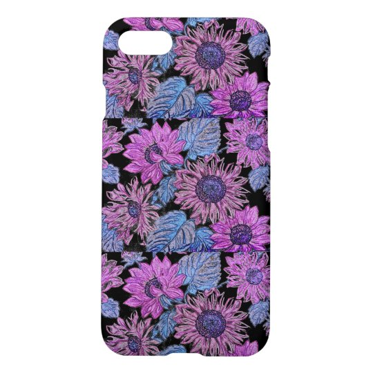 Purple Sunflower Iphone 7 Matte Case