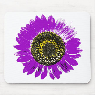 Purple Sunflower Mouse Pad
