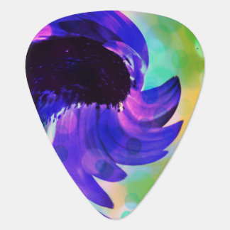 Purple Sunflower Swirl Guitar Pick
