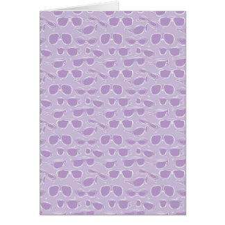 purple sunglasses pattern greeting cards