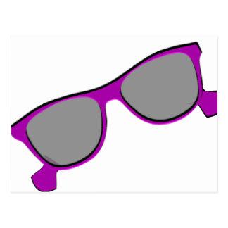 Purple Sunglasses Postcards