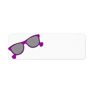 Purple Sunglasses Return Address Label