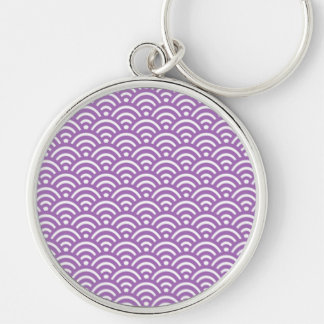 Purple Sunrise Design Pattern Key Chain