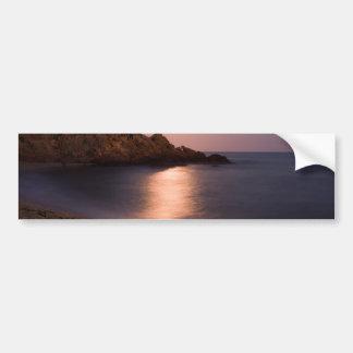 Purple Sunset beach Catalonia, Spain Bumper Sticker