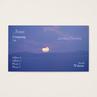 Purple Sunset Business/Profile Card