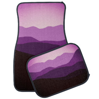 Purple Sunset Car Mat
