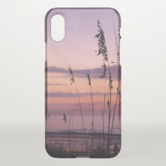 Purple Sunset on the Beach iPhone X Case