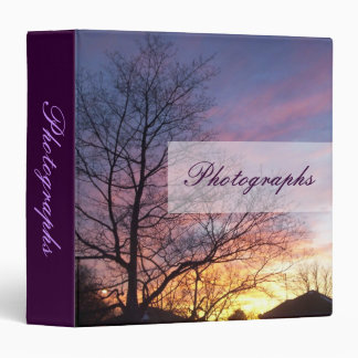 Purple Sunset Photo Binder