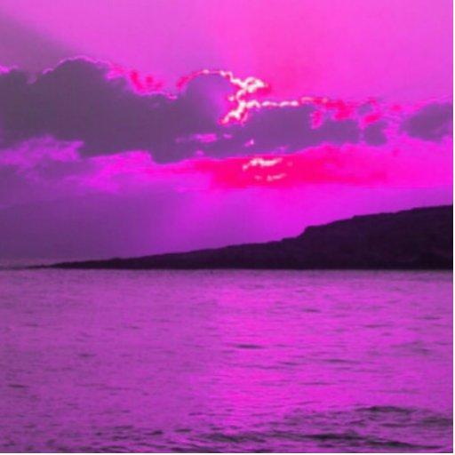 Purple Sunset Photo Sculpture