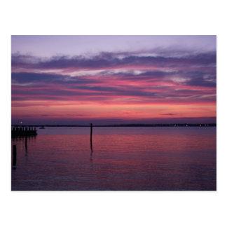 Purple Sunset Postcard