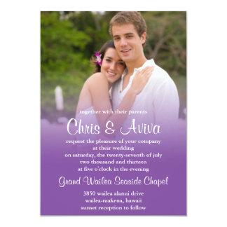 Purple Sunset Wedding Invitation