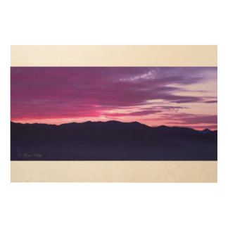 Purple Sunset Wood Wall Art