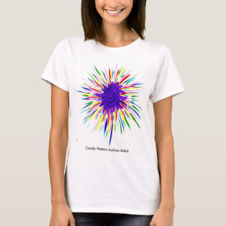 Purple Superhero by Candy Waters Autism Artist T-Shirt