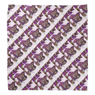 Purple Swallowtail Butterfly Pattern Bandanna