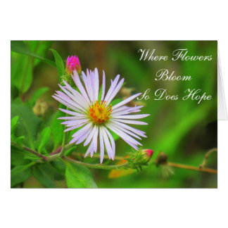 Purple Swamp Flower with Quote (5064) Card