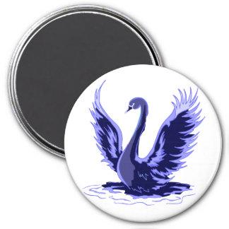 Purple Swan 3 Inch Round Magnet