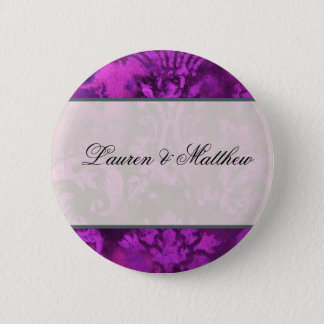 Purple swirl 2 inch round button