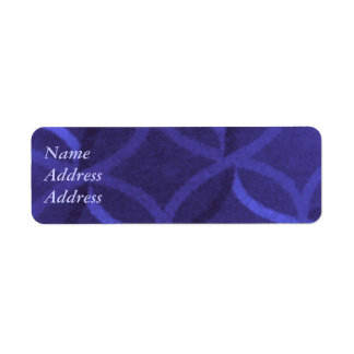 Purple Swirl Address Labels