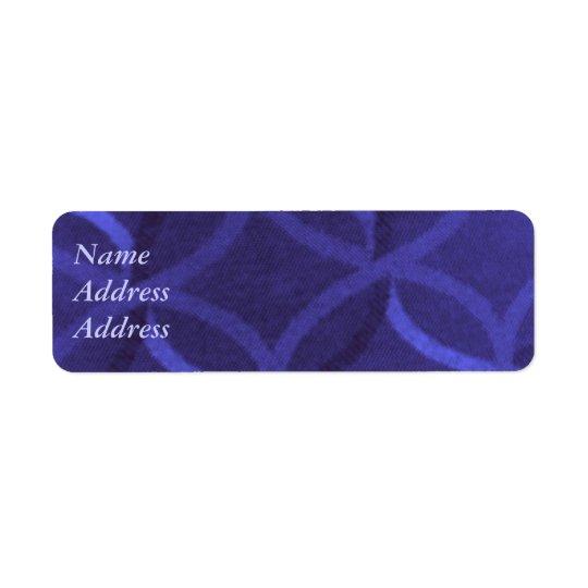 Purple Swirl Address Labels
