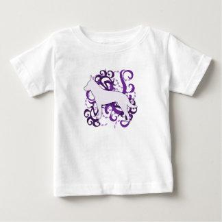 Purple Swirl Australian Cattle Dog Baby's Baby T-Shirt