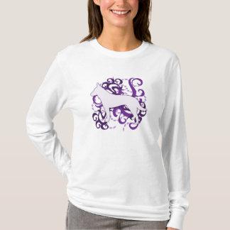 Purple Swirl Australian Cattle Dog T-Shirt