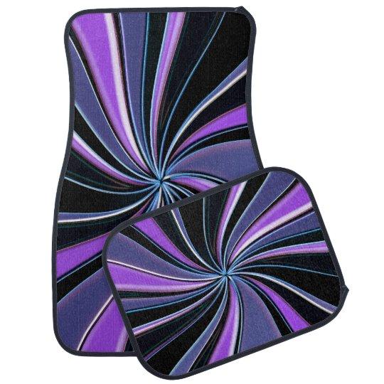 Purple Swirl Car Mats Floor Mat