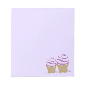 Purple Swirl Cupcakes Notepad