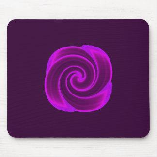 Purple Swirl Flower Mouse Pad