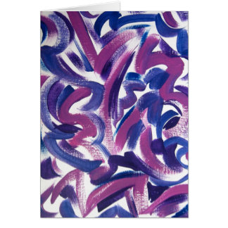 Purple Swirl-Hand Painted Abstract Brushstrokes Card