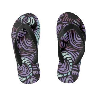 Purple Swirl Kid's Flip Flops