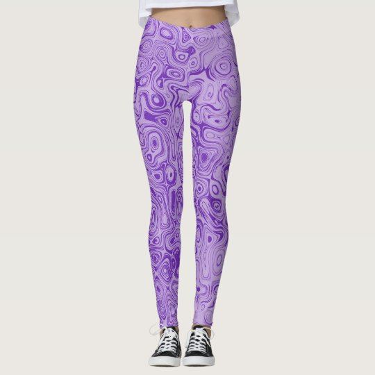 Purple Swirl Leggings by John Oven
