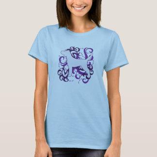 Purple Swirl Plott Hound T-Shirt